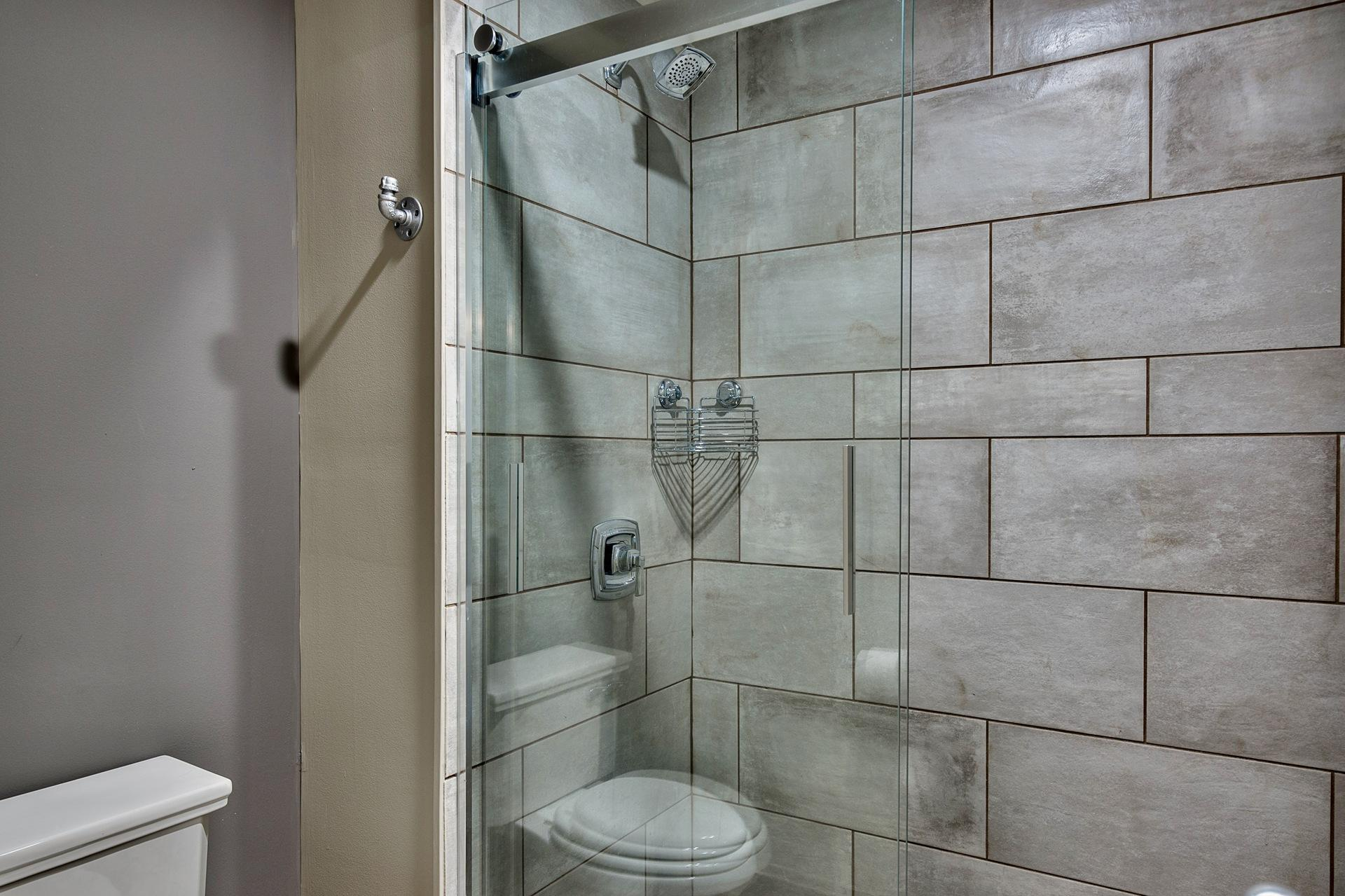 Guest Bathroom, tiled shower