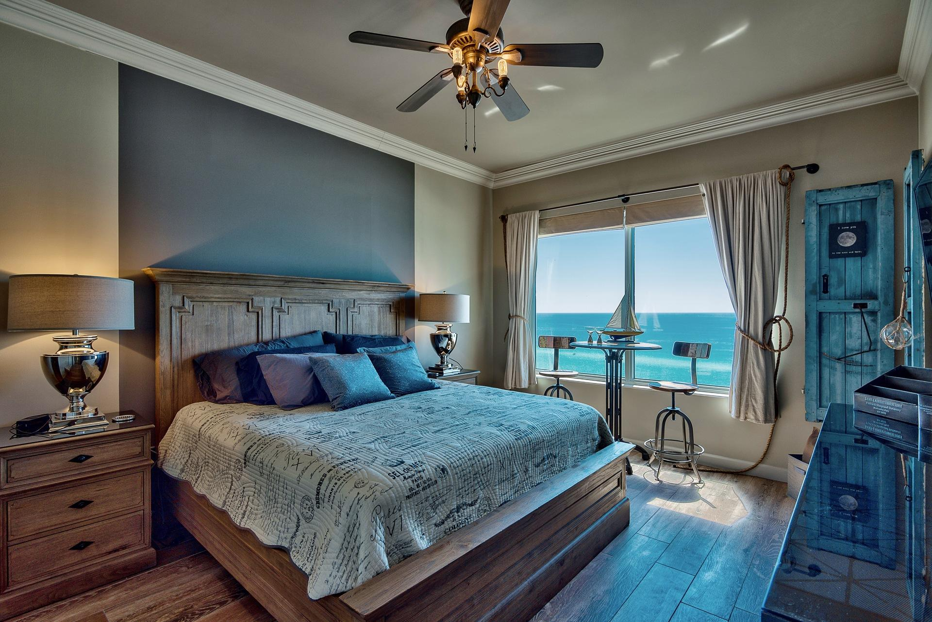 Master Bedroom with Gulf View and large LED TV...
